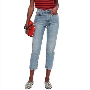 CURRENT/ELLIOTT Vintage Cropped Blue Jeans size 24
